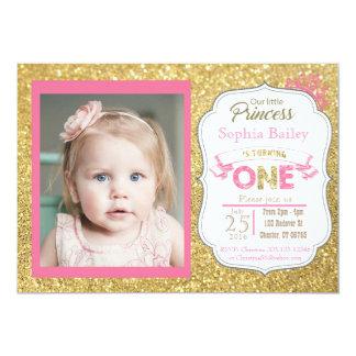 1. Geburtstag Mädchen-Einladung Prinz- 12,7 X 17,8 Cm Einladungskarte
