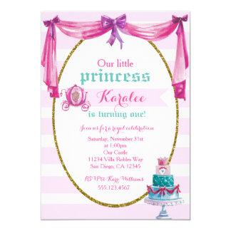 1. Geburtstag Party Einladung Prinzessin-