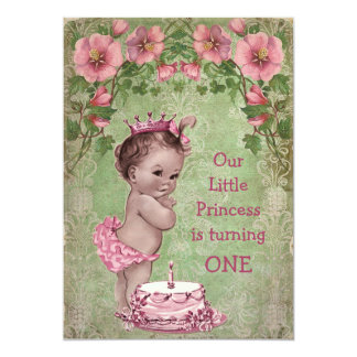 1. Geburtstag Party niedlicher Vintager 12,7 X 17,8 Cm Einladungskarte