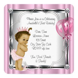 1. Geburtstag Party Prinzessin- Einladungskarte
