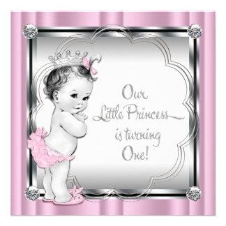 1 Geburtstag Party rosa und schwarzer Prinzessin- Ankündigungen
