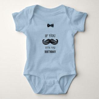 1. Geburtstag - Schnurrbart - kleiner Mann - Baby Baby Strampler