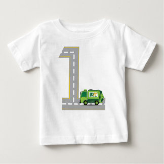 1. Geburtstags-Abfall-LKW Baby T-shirt