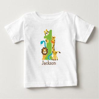 1. Geburtstags-Dschungel-T-Shirt Baby T-shirt