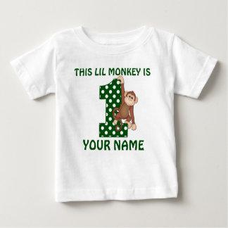1. Geburtstags-Jungen-Affe-personalisiertes Shirt