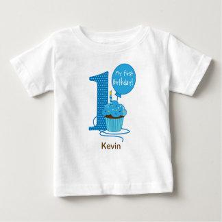 1. Geburtstags-Kuchen-Blau Baby T-shirt