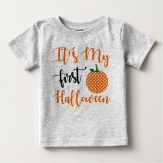 1. Geburtstags-Mädchen-Kürbis Baby T-shirt