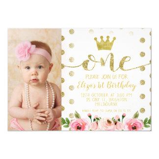 1. Geburtstags-Party Einladung Prinzessin-Foto