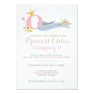 1. Geburtstags-Prinzessin Party Einladung