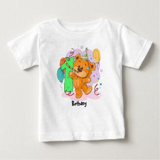 1. Geburtstags-Teddybär Baby T-shirt