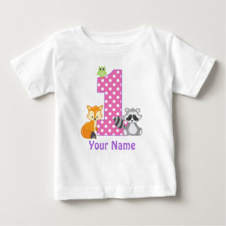 1. Geburtstags-Waldpersonalisierter T - Shirt