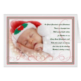 1. Gedicht des Großenkels Weihnachtsmit Namen Grußkarte