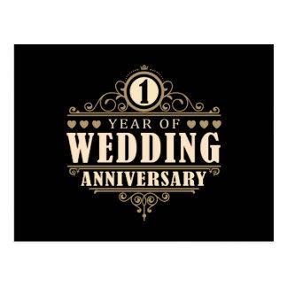 1. Hochzeitstag Postkarte