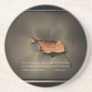 1 John-4:12 Getränkeuntersetzer