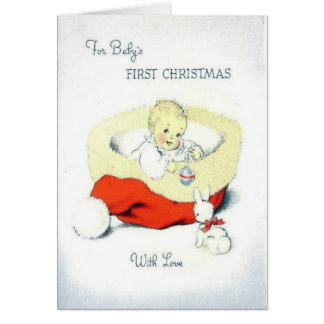 1. Karte des hübschen Babys Weihnachts