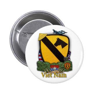 1. Kavallerieabteilung Vietnam untersucht Krieg Kn Runder Button 5,7 Cm