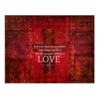 1 Korinther-13:13 BIBEL-VERS ÜBER LIEBE Postkarte