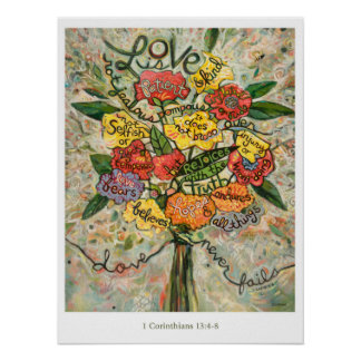 1 Korinther 13, Liebe ist geduldiges Plakat