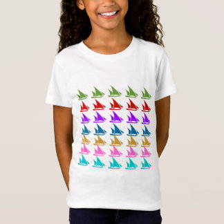 #1 LUCKY7 7COLOR SEGEL-BOOTS-MUSTER-DRUCK T-Shirt