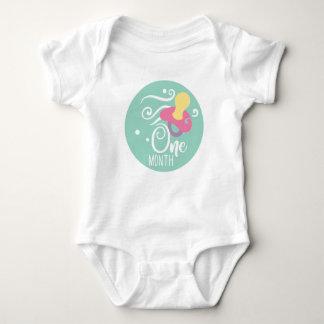 1-monatiges Meilenstein-Baby Baby Strampler
