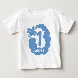 1. Personalisiertes Flugzeugt-shirt des Baby T-shirt