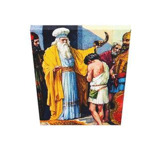 1 Samuel-16:1 - 13 Samuel salbt David als König Leinwanddruck