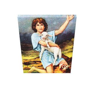 1 Samuel 17 David tötet eine Löwe-Leinwand Gespannter Galeriedruck
