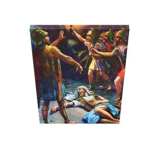 1 Samuel 24 David erspart Sauls Leben-Leinwand Leinwand Druck