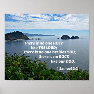 1 Samuel-2:2 dort ist niemand, das wie der Lord Poster