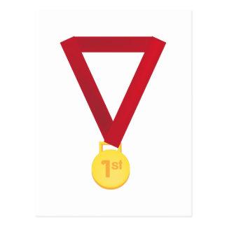1. Setzen Sie Medaille Postkarte