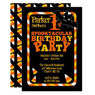 1. Spooktacular Geburtstags-Party Halloweens Karte