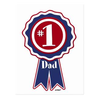 #1 Vati - der glückliche Vatertag Postkarte