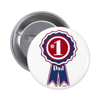 #1 Vati - der glückliche Vatertag Runder Button 5,1 Cm