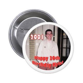 2001 RUNDER BUTTON 5,1 CM