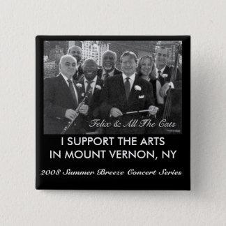 2008 Sommer-Brisen-Konzert-Reihe Quadratischer Button 5,1 Cm