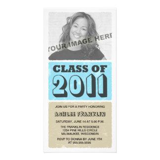 2011 Farbblock-Abschluss-Party Einladungen Photokarten