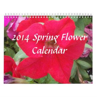 2014 Frühlings-Blumen-Kalender Kalender