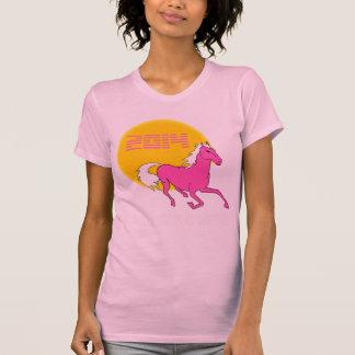 2014 Jahr des Pferderosa-T - Shirt