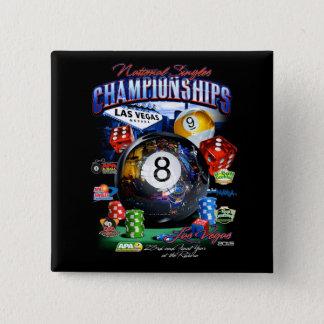 2015 nationale Single-Meisterschaft Quadratischer Button 5,1 Cm