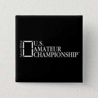 2015 US-Amateur-Logo Quadratischer Button 5,1 Cm