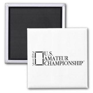 2015 US-Amateur-Logo Quadratischer Magnet