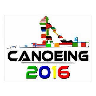 2016: Canoeing Postkarte
