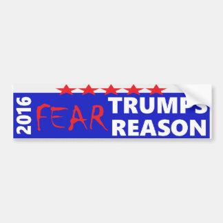 2016: Furcht-Trumpf-Grund Autoaufkleber
