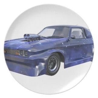 2016 Stern-blaues Muskel-Auto Teller