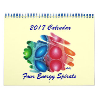 2017 der Kalender-Kunst-vier Seite Energie-der Abreißkalender