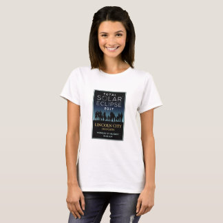 2017 GesamtSonnenfinsternis - Lincoln-Stadt ODER T-Shirt
