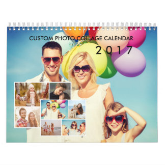 2017 Gewohnheits-Foto-Collagen-Kalender Kalender