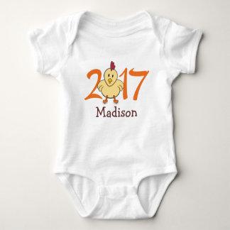 2017-jährig vom Hahn (personifizieren Sie Version) Baby Strampler