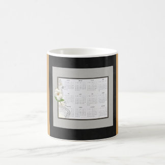 2017 Kalender, Blume betont Tasse