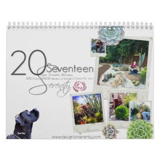 2017 Kalender-Entwurf für Ruhe Wandkalender